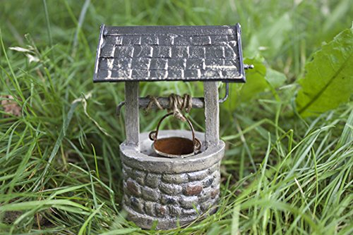 Country Wishing Well - Jeremie Miniature 4.5'' Fairy Garden Wishing Well with Bucket