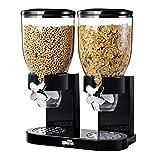 Zevro KCH-06121/GAT200 Indispensable Dry Food Dispenser, Dual Control, Black/Chrome