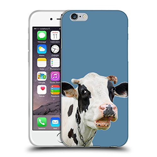 GoGoMobile Coque de Protection TPU Silicone Case pour // Q05710600 Vache curieuse Air Force Blue // Apple iPhone 7