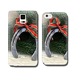 Neujahrsgru? horseshoe decoration with Copy Space cell phone cover case Samsung S6