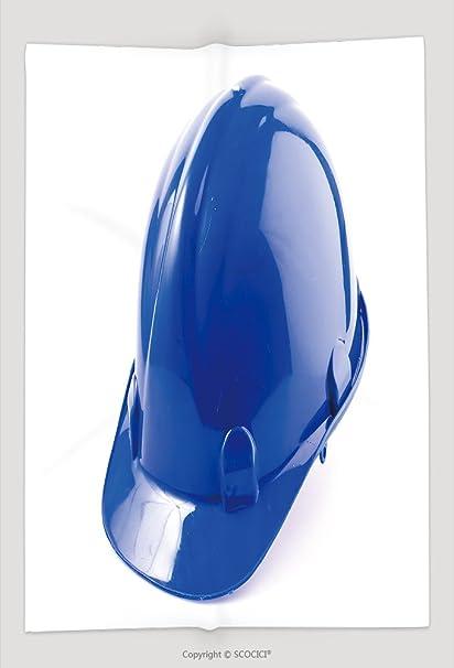Manta de Custom duro sombrero casco de seguridad de aislado sobre fondo blanco, 173727824 y