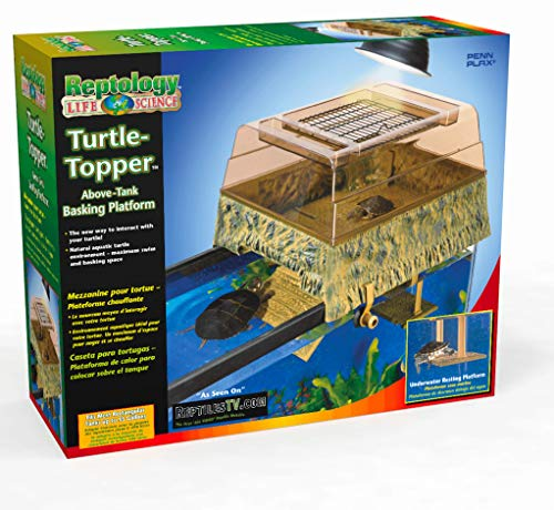 Penn Plax Turtle Tank Topper - Above-Tank Basking Platform for Turtle Aquariums, 17 x 14 x 10 Inches