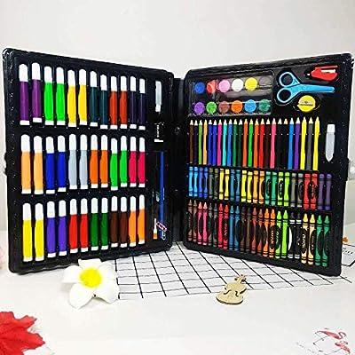 pomelogreem Lápices de Colores,Set de Pintura de 150 niños, Acuarela, Estuche de Regalo, Estuche, papelería artística @ Negro,Set Artístico para Dibujar y Bocetar: Amazon.es: Hogar