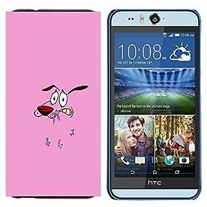 EJOOY---Cubierta de la caja de protección para la piel dura ** HTC Desire Eye M910x ** --Animación de Personajes perro Historieta rosada Cara