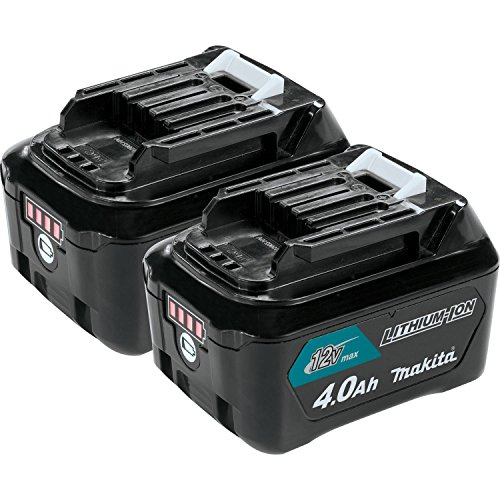 Makita BL1041B-2 12V max CXT Lithium-Ion 4.0 Amp Battery (2 Pack) (12v Makita Battery)