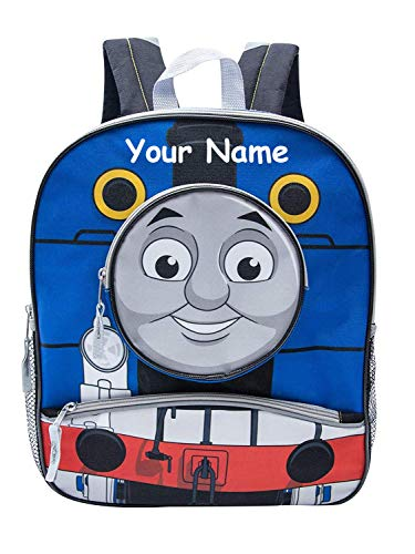 Ralme Personalized Thomas The Tank Engine Train Face Back to School Backpack Book Bag - 14 Inches