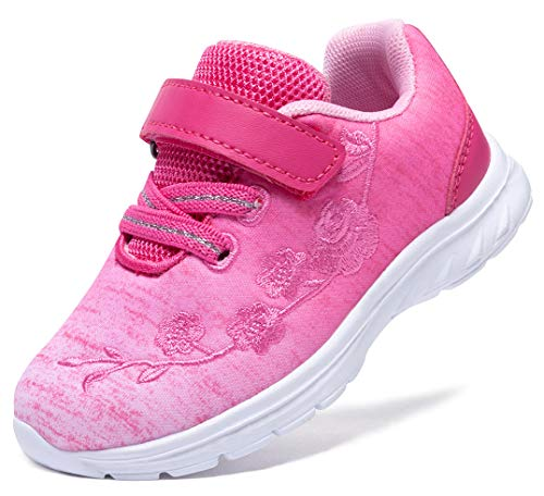 G GEERS Kids Girl's Fashion Sneakers Casual Sports Shoes (8 M US Toddler,Hot Pink)