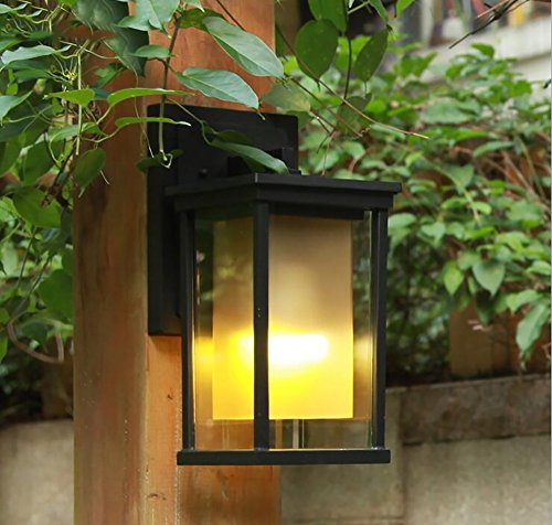 Medium European Style Door - TOYM US European-style outdoor wall lamp modern simple wall lamp European waterproof garden lights ( Color : Medium )