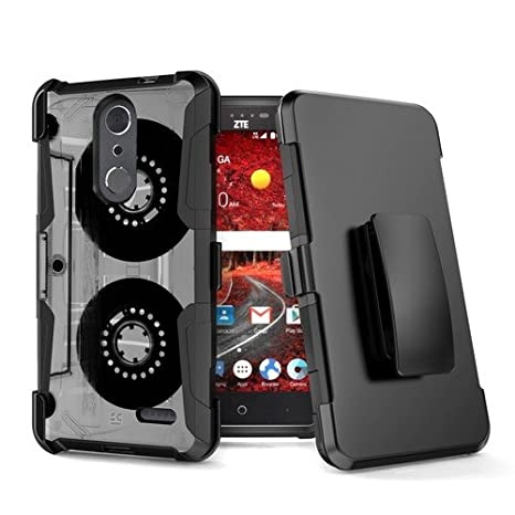 Holster Clip Cover Compatible with ZTE Grand X 4 Z956 ZTE Blade Spark Z971 Rugged Heavy Duty Shockproof Case w//Stand Digital Camo