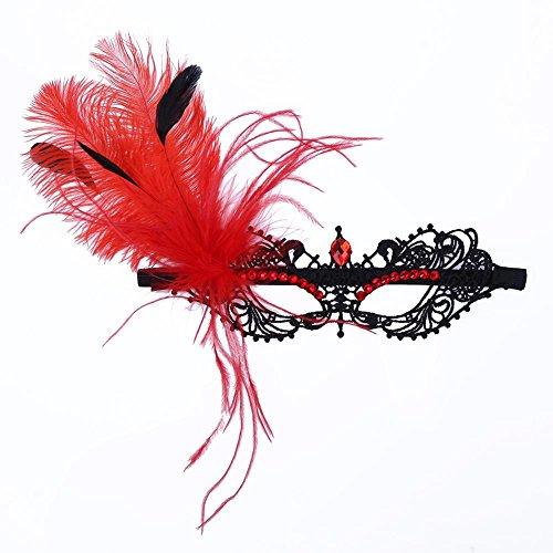 Whitelotous Black Lace Mask Female Prom Princess Mask Blindages Mask Christmas (Christmas Masks)