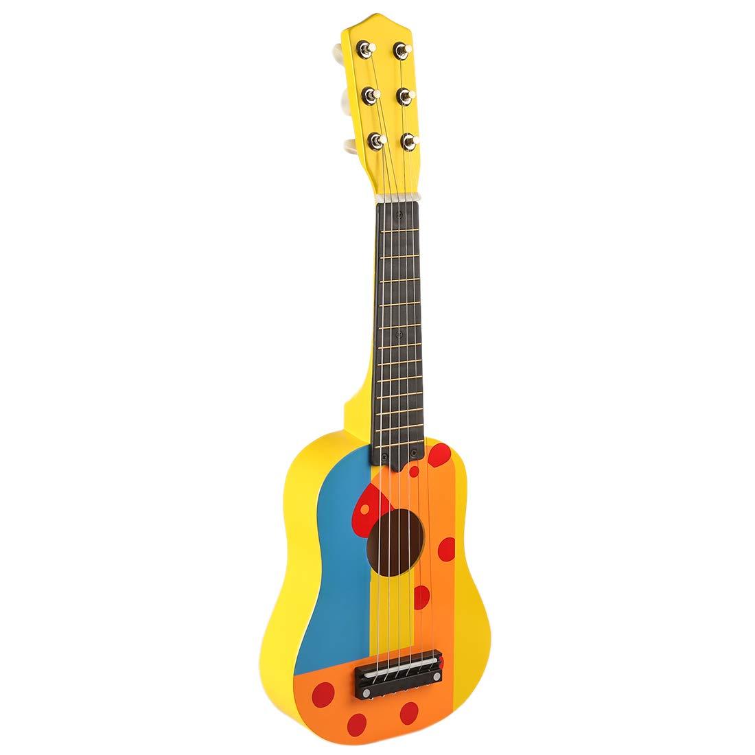 Mini 6 Pulgadas Guitarra Mrke Madera Cuerdas Niños 21 dQrhtsC