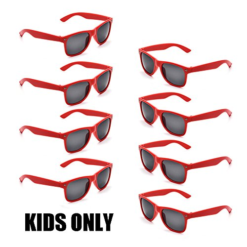Neon Colors Party Favor Supplies Unisex Sunglasses Pack of 8 for Kids (8 Pack - Sunglasses Promotional