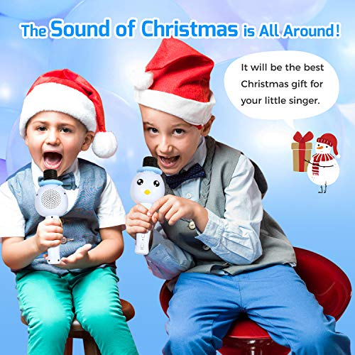 TONOR Kids Microphone, Wireless Portable Karaoke Bluetooth Mic for Kids with Speaker and Colorful Lights for Home Party KTV Birthday Gift Compatible with PC/iPad/iPhone/Android Smartphone by TONOR (Image #6)