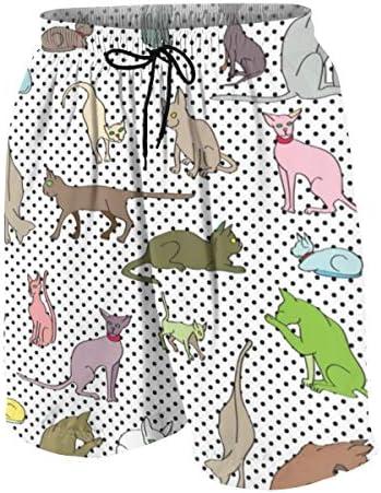 キッズ ビーチパンツ ねこ 猫柄 サーフパンツ 海パン 水着 海水パンツ ショートパンツ サーフトランクス スポーツパンツ ジュニア 半ズボン ファッション 人気 おしゃれ 子供 青少年 ボーイズ 水陸両用