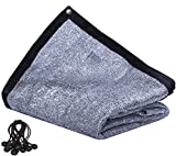 JTsuncover- Aluminet 85% - Heavy Duty Shade Cloth Mesh Sun Block Fabric Sun Reflect Pet Shade - with Grommets - 13 ft x 16 ft