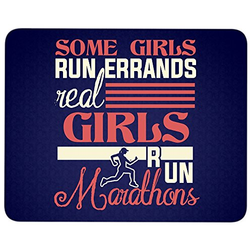 Some Girls Run Errands Mouse Pad, Real Girls Run Marathons great gift idea Mousepad (Mouse Pad - Navy)