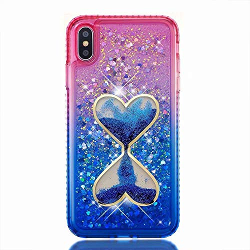 iPod Touch 6 Case,[Gradient Quicksand Series] Hourglass Glitter Liquid Quicksand Waterfall Floating Flowing Sparkle Flexible TPU Bling Diamond Girls Case for iPod Touch 5 6th Generation(Bling-26) ()