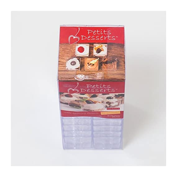 """Mini Plastic Dessert Cups 36 x 2 oz with 36 Spoons - Serving Glasses for Parfait Appetizer Trifle Mousse - Small Square Bowls - Shooter Cup - For Party Supplies - Disposable - Free Recipe Ebook 7 ✅ A COMPLETE SOLUTION TO MAKE YOUR PARTY A HIT - With this set, you will get everything you need to prepare fancy food for your party, plus the """"WOW-EFFECT"""" ON YOUR GUESTS; Also included is our Mini Cups EASY DESSERT RECIPES eBook with 20 superb easy-to-make no bake recipes you can use to impress your guests. ✅ SIMPLE, QUICK, CONVENIENT - use our simple no bake recipes to prepare your own culinary creations quickly; The tiny cups are very easy to fill and serve; The clean-up is easy; THE SPOONS are just the size they have to be and will really help you out at your event; You can also use the spoons as top decorations on your treats; REUSABLE - just wash and dry and use again or dispose - the plastic is 100% RECYCLABLE. ✅ PROFESSIONAL APPEARANCE AND STYLE - The mini cups are a perfect size for desserts, appetizers, tasters, treats or any other bite-sized food; With little effort, you will present your food professionally and with style; These cups are always a hit at the party and an easy way for you to make your guests go """"wow""""; Get ready for a shower of compliments!"""