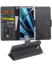 Arae Sony Xperia 10 Hülle, Handyhülle Sony Xperia 10 Tasche Leder Flip Cover Brieftasche Etui Schutzhülle für Sony Xperia 10