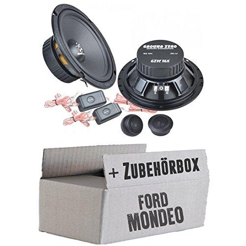 JUST SOUND best choice for caraudio 16cm Lautsprecher System Ground Zero GZIC 16X Einbauset f/ür Ford Mondeo MK4 BA7 Front Heck