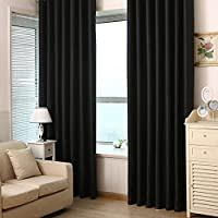 Niome Solid Blackout Window Curtain Living Room Darkening Sheer Panel Drape Shade Covering 39 by 84 Inch