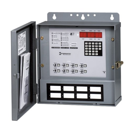 Intermatic ET90815CR 365-Day Electronic Astronomic Time Switch with Nema 1 Indoor Steel Case and 8 Circuit SPDT (20 (Intermatic Steel Indoor Switch)