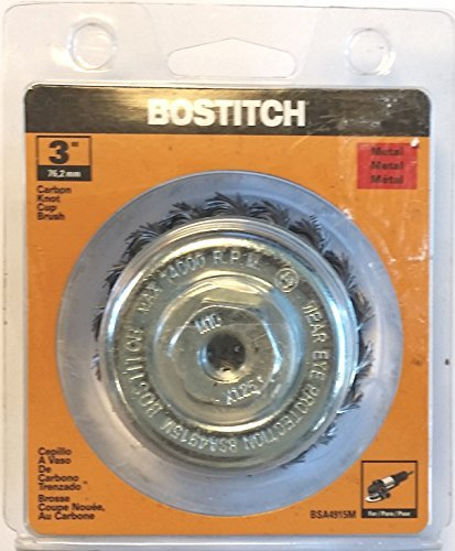 Bostitch 3 Carbon Knot Cup Brush BSA4915M by (Knot Carbon)