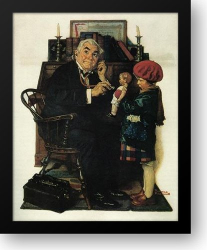 Doctor And The Doll 20x22 Framed Art Print by Rockwell, Norman (Dolls Rockwell Norman)