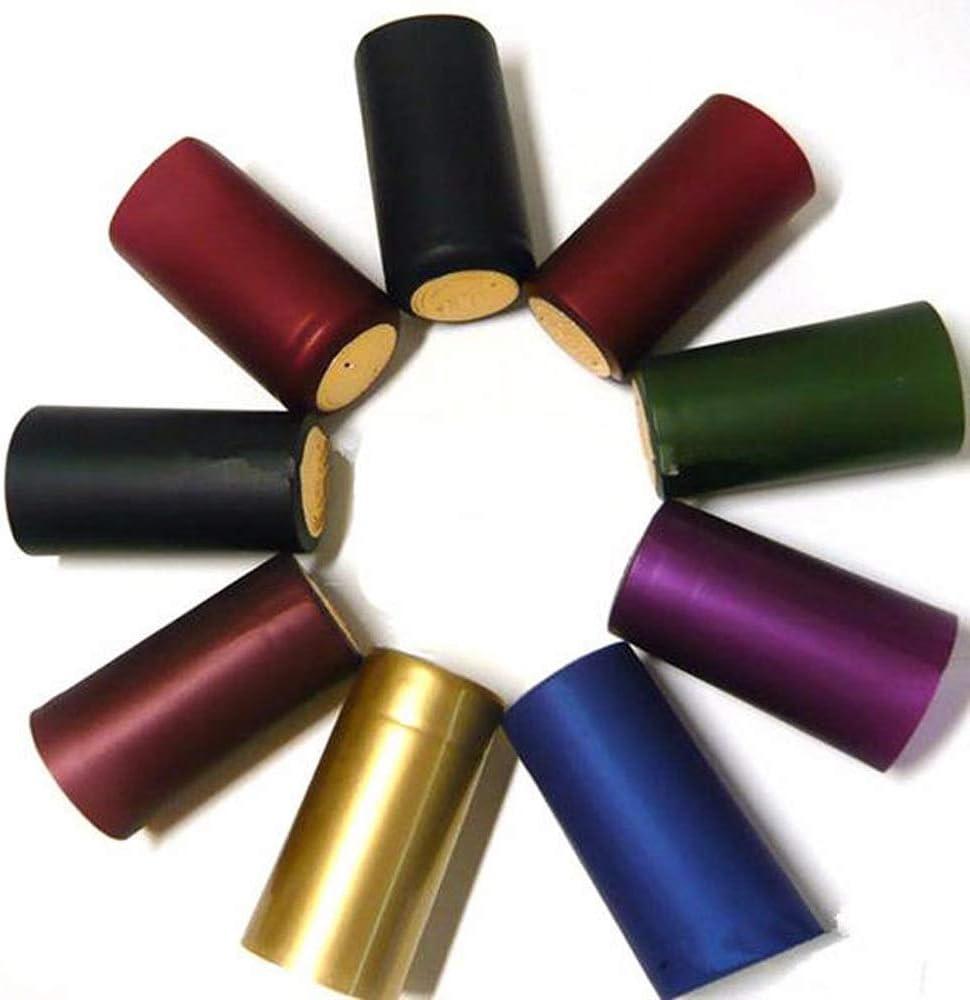 ワインボトルコンビネーションロック PVCワインボトルの熱は、キャップシールブリュツール便利なワインストッパーを縮小します (色 : Random, Size : 32x60mm)