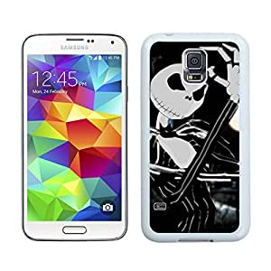 Nightmare Before Christmas White Samsung Galaxy S5 Screen Cover Case Newest and Fashion Design