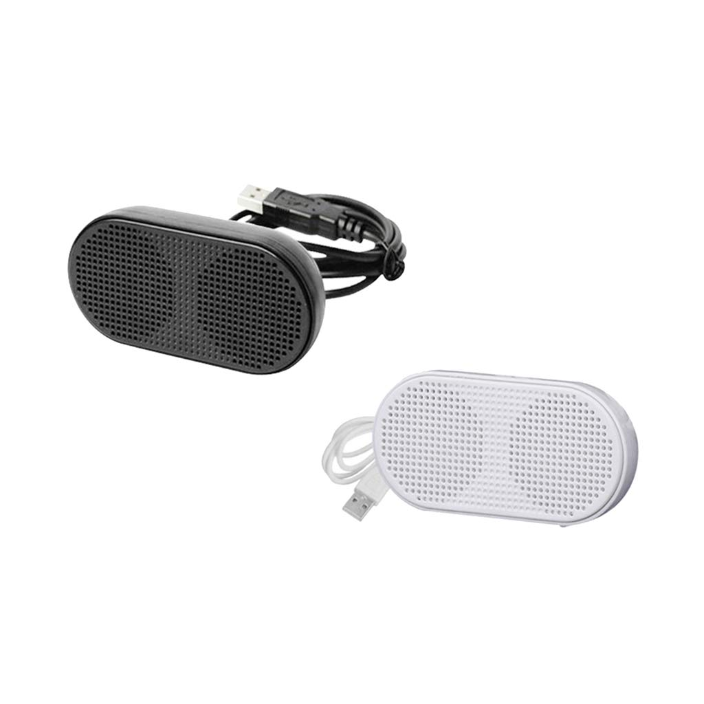 Black Stereo 2.0 Channel Wired Multimedia Speakers USB Powered Small PC Laptop Desktop Speakers Homyl Computer Speakers