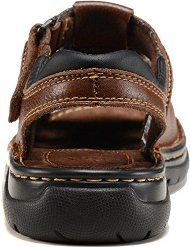 Sandali In Pelle Scamosciata Casual Da Uomo In Pelle Di Vacchetta Bininbox Marrone
