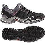 adidas Outdoor Women's Ax2 Gore-Tex Hiking Shoe, Carbon/Black/Bahia Pink, 9 M US