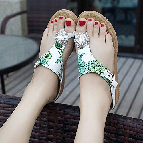 5 plano Zapato antideslizante exterior 225 UK3 LIXIONG Color CN35 Zapato Zapatos de verano Tamaño EU35 arena colores Playa 3 mujer suave de de moda de de Ropa fondo Verde Verde Playa Zapatillas qwv8qf