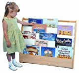 ECR4Kids Birch Hardwood Pic-A-Book Stand with Dry Erase Board and Storage
