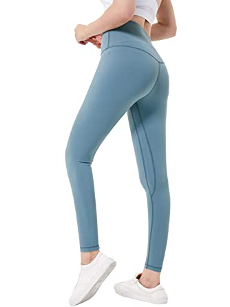 e3c88c0b4adf83 PERSUN Yoga Pants High-Waist Tummy Control Leggings with Inner Pocket Green