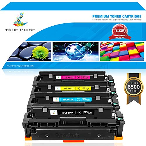 Stand Laserjet Hp Printer (True Image Compatible 410X Toner Cartridge Replacement for HP CF410X CF410A M477fnw Toner HP Color Laserjet Pro MFP M477fnw M477fdw M477fdn M477 M452dn M452dw M377dw CF411X CF412X CF413X Printer Ink)