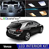 Toyota Venza 2009 & Up Xenon White Premium LED Interior Lights Package Kit (8 Pieces) + Install Tool