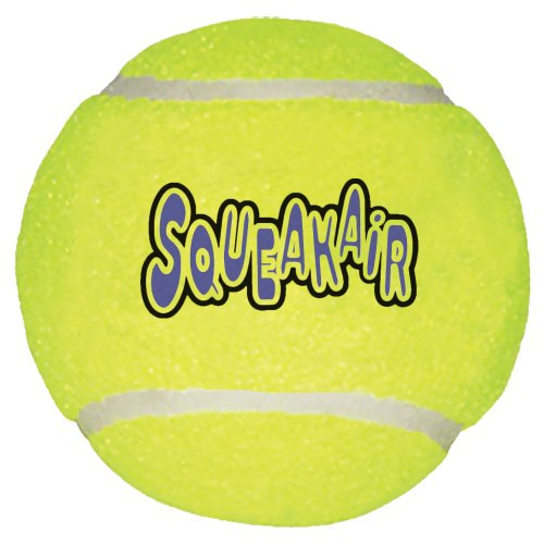 Dog Tennis Ball (KONG Air Dog Squeakair Dog Toy Tennis Balls, Medium, 3-Pack)