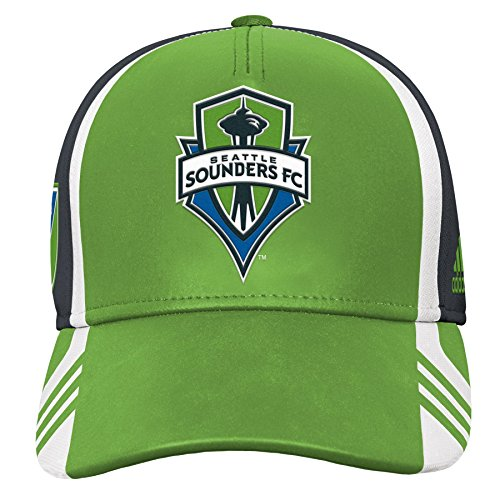MLS Seattle Sounders FC Boys Structured Adjustable Hat, Green, One Size (8)