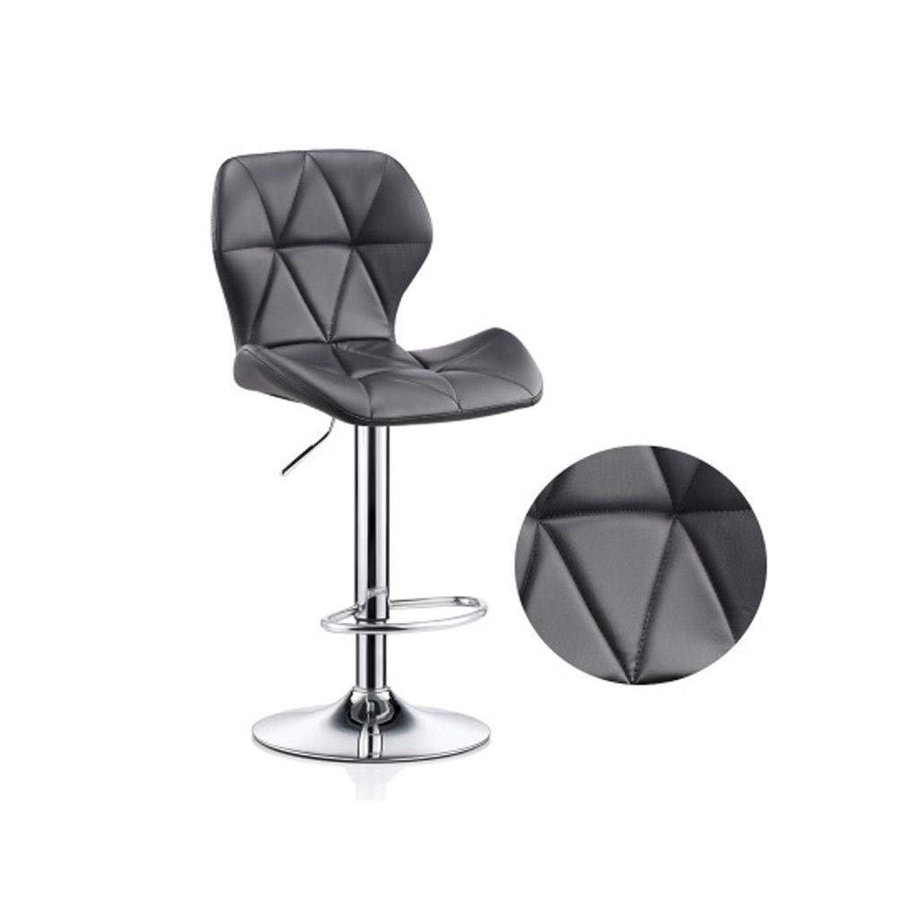 VAIY Adjustable 60-80cm Backless Swivel Bar Chairs Counter Height Bar Stools (Color : Black) by VAIY