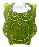 Owl Bath Mat,Microfiber,Non-Slip Backing,19.7'' x 23.6'' (Green Owl)