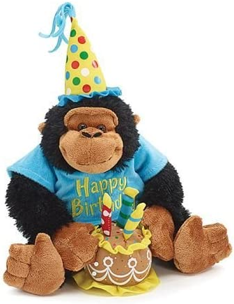 Miraculous Amazon Com Happy Birthday 12 Plush Monkey With Birthday Cake Funny Birthday Cards Online Alyptdamsfinfo