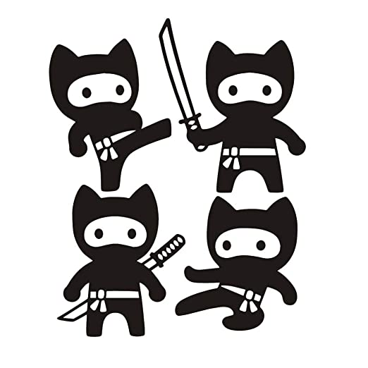 Pujishi Pegatinas De Pared De Dibujos Animados Ninja ...