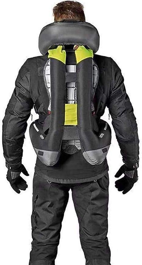 LXHkk Motorrad Airbag Weste Kohlendioxid Airbag Triggersystem,Schwarz,S Motorrad Lokomotive Racing Sicherheitsausr/üstung Gro/ße Fl/äche Reflektierend