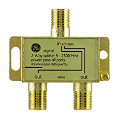 GE Pro Digital 2-Way Coaxial Splitter, W...