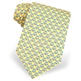100% Silk Yellow Legal Scales of Justice Lawyer Neck Tie Necktie Neckwear