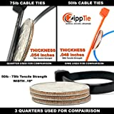 "Cable Ties by ZippTie | 680 pc Cable Management Kit Heavy Duty 4"" 8"" 12"" UV Black 50lb & 75lb (Zip Ties) 