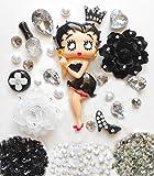 LOVEKITTY DIY 3D Betty Boop Bling Bling Cell Phone Case Resin Flatback Kawaii Cabochons Deco Kit / Set