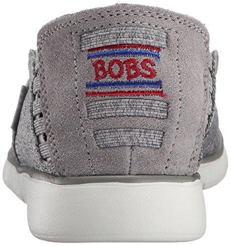 Skechers Bobs De Mujeres Pureflex 2 Flat Gris / Blanco